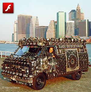 The Camera Van Art Car by Harrod Blank